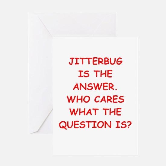 jitterbug Greeting Card