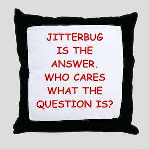 jitterbug Throw Pillow