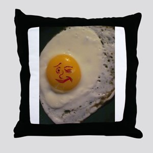 With Face On My Egg Throw Pillow