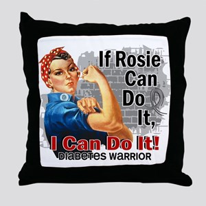If Rosie Can Do It Diabetes Throw Pillow