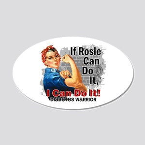 If Rosie Can Do It Diabetes 20x12 Oval Wall Decal