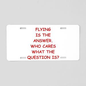 flying Aluminum License Plate