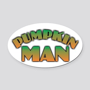 Pumpkin Man Oval Car Magnet