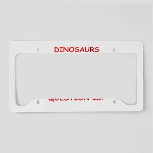 dinosaur License Plate Holder