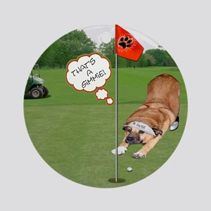 Chow Golfing Ornament (Round)