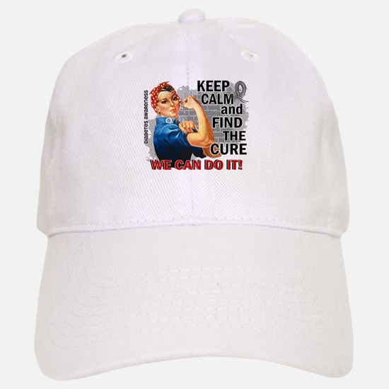 Rosie Keep Calm Diabetes Baseball Baseball Cap
