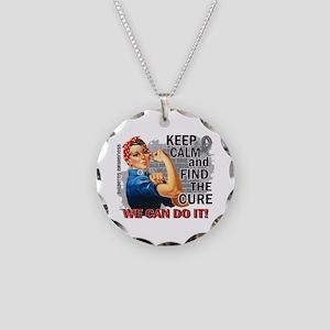 Rosie Keep Calm Diabetes Necklace Circle Charm