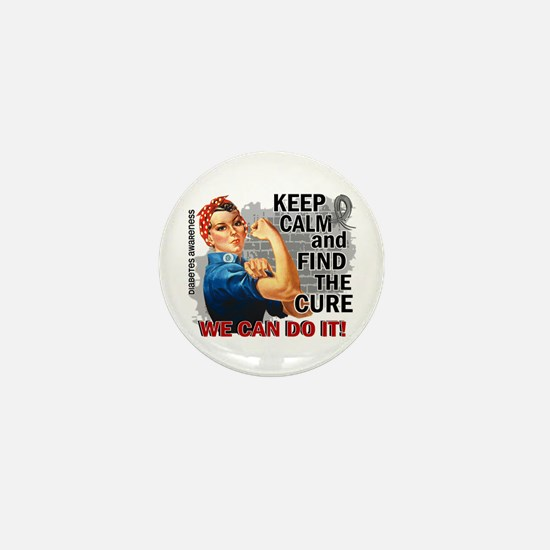 Rosie Keep Calm Diabetes Mini Button