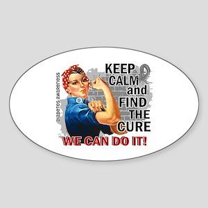 Rosie Keep Calm Diabetes Sticker (Oval)