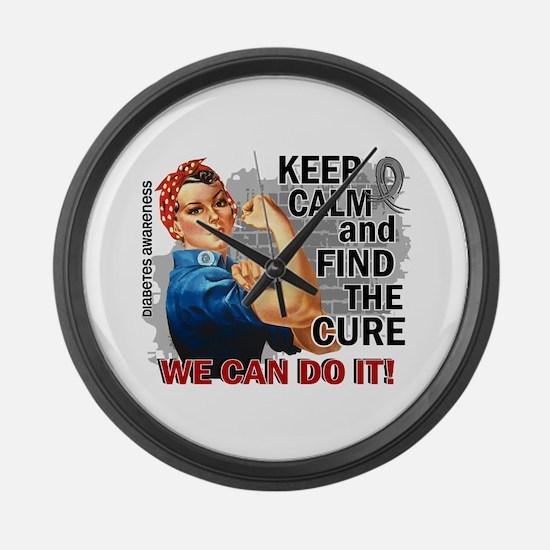 Rosie Keep Calm Diabetes Large Wall Clock