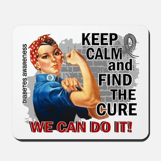 Rosie Keep Calm Diabetes Mousepad