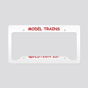 model trains License Plate Holder