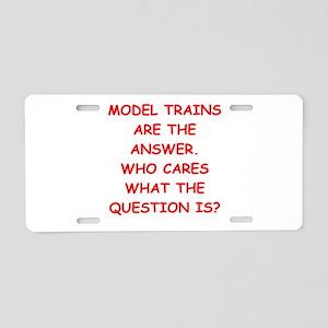 model trains Aluminum License Plate