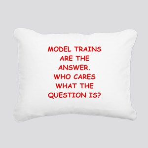 model trains Rectangular Canvas Pillow