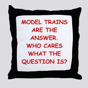 model trains Throw Pillow
