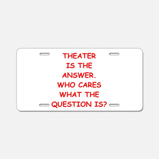 theater Aluminum License Plate