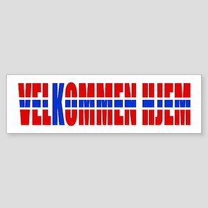 Velkommen Hjem Welcome Home Norse Bumper Sticker