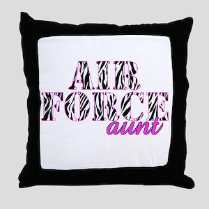 AF Aunt Zebra Throw Pillow