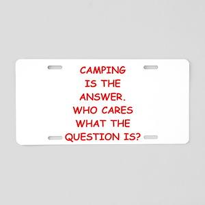 camping Aluminum License Plate