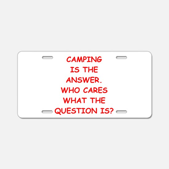 camping Aluminum License Plate