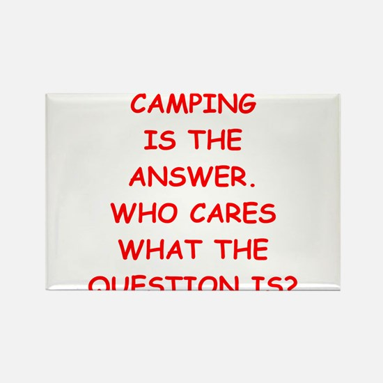 camping Rectangle Magnet