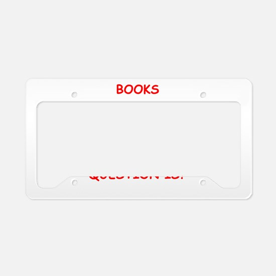 books License Plate Holder