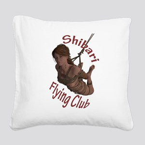 Shibari Flying Club Square Canvas Pillow