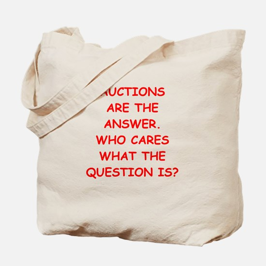 auction Tote Bag