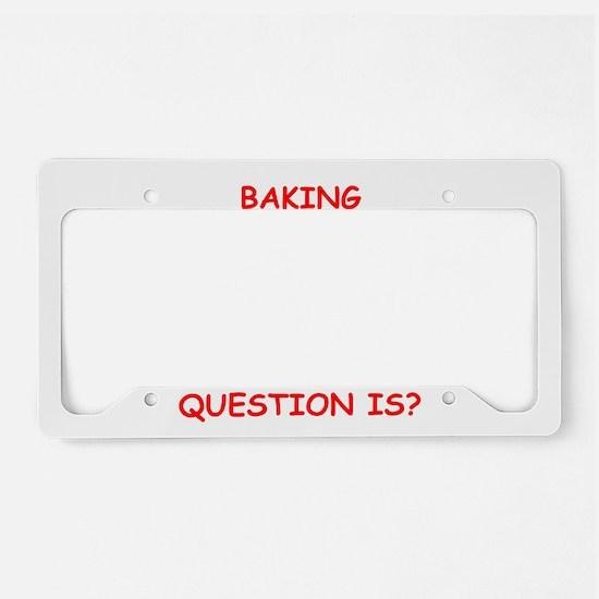 baking License Plate Holder