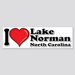 "I Love LKN 10""x3 Bumper Sticker"