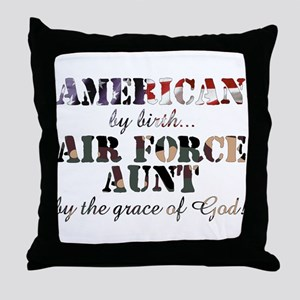 AF Aunt by grace of God Throw Pillow