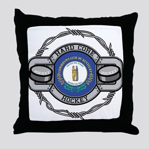 Kentucky Hockey Throw Pillow
