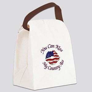 You Can Kiss My Country Ass Canvas Lunch Bag