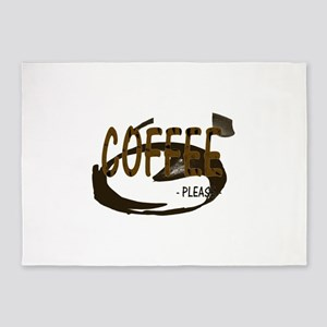 Coffee Please 5'x7'Area Rug