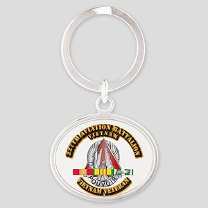 227 AVN BN w VN SVC Oval Keychain