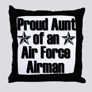 Proud Aunt of an AF Airman Throw Pillow