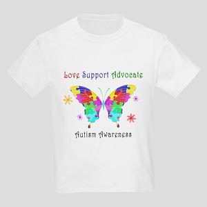 Autism Butterfly Kids Light T-Shirt
