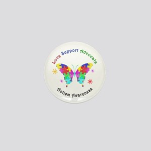 Autism Butterfly Mini Button