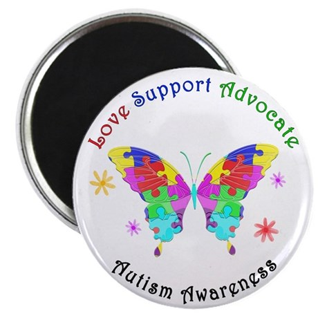 """Autism Butterfly 2.25"""" Magnet (100 pack)"""