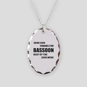 Dear God Thanks For Basssoon K Necklace Oval Charm