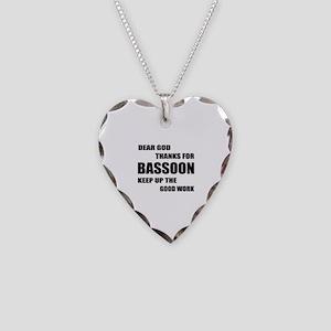Dear God Thanks For Basssoon Necklace Heart Charm