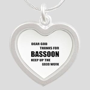 Dear God Thanks For Basssoon Silver Heart Necklace