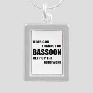Dear God Thanks For Bass Silver Portrait Necklace