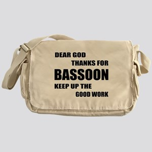 Dear God Thanks For Basssoon Keep Up Messenger Bag