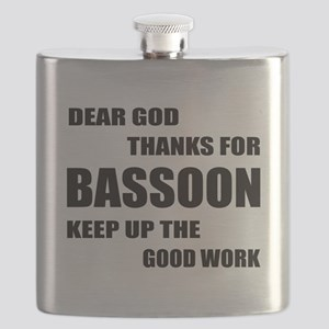 Dear God Thanks For Basssoon Keep Up The Goo Flask