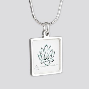 Buddha Lotus Flower Peace quote Necklaces