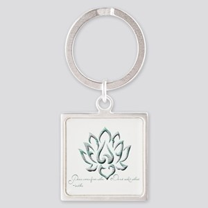 Buddha Lotus Flower Peace quote Keychains