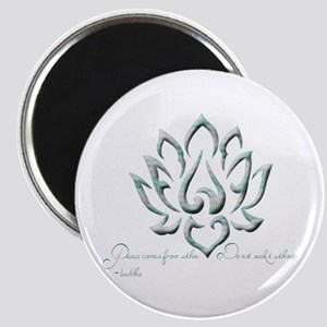 Buddha Lotus Flower Peace quote Magnet