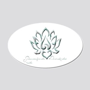 Buddha Lotus Flower Peace quote Wall Decal