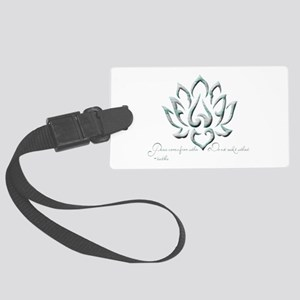 Buddha Lotus Flower Peace quote Luggage Tag